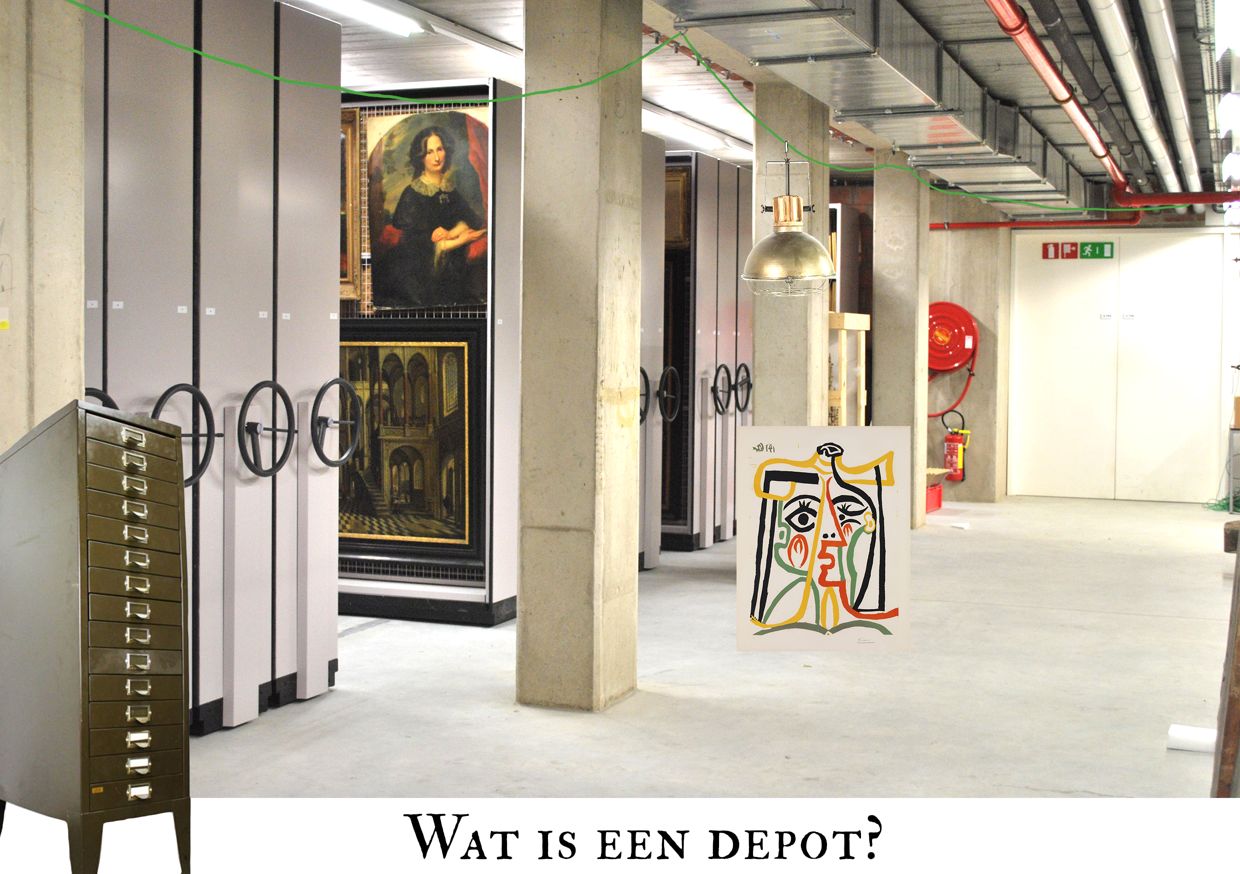 Wat is een depot illustratie