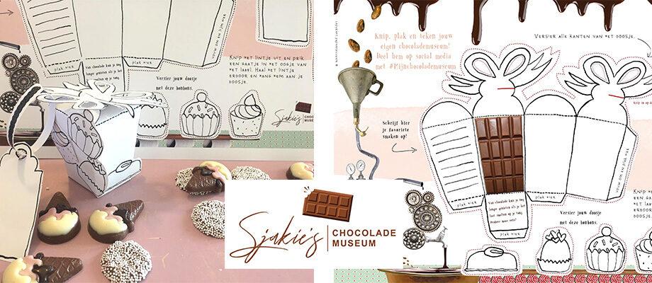 Chocolade museum Sjakies bouwplaat
