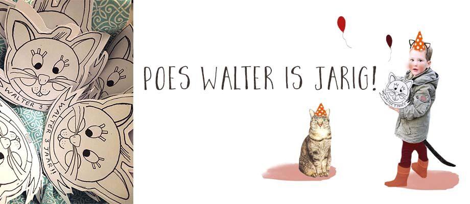 Kindertraktatie 'Poes Walter is jarig'